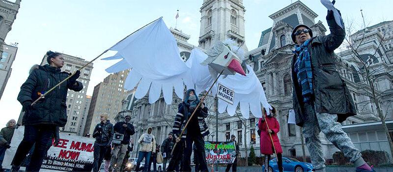 Protest for Mumia Abu-Jamal in Philadelphia