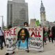 April 24, 2021, Protesters take to downtown Philadelphia for Mumia Abu-Jamal