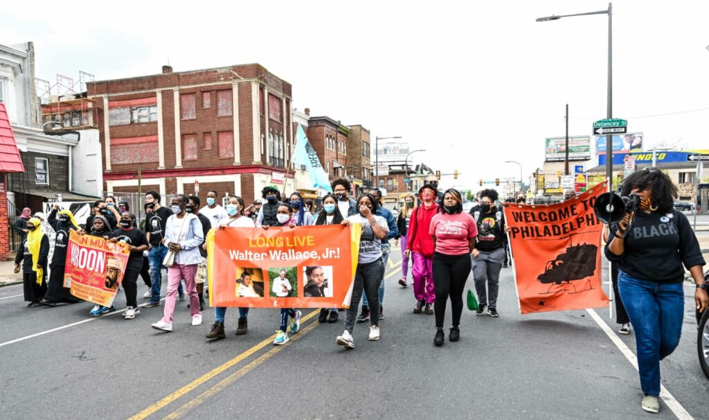 Protests continue, West Philadelphia, April 25.