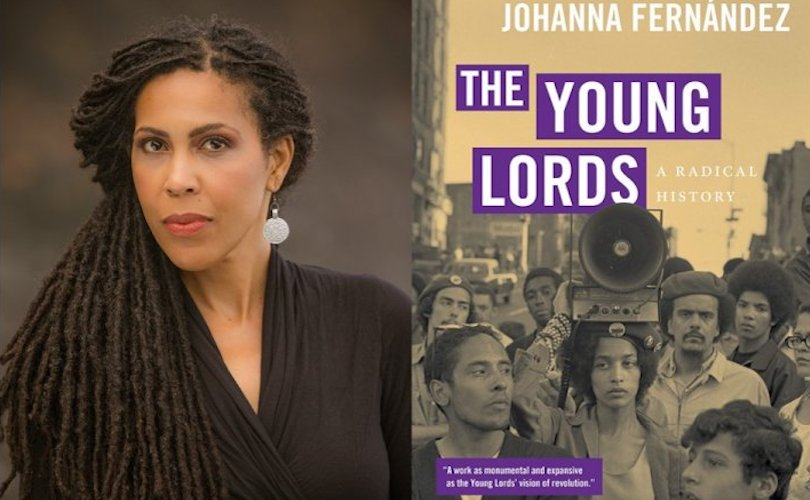 Dr. Johanna Fernandez and her award-winning book, The Young Lords.