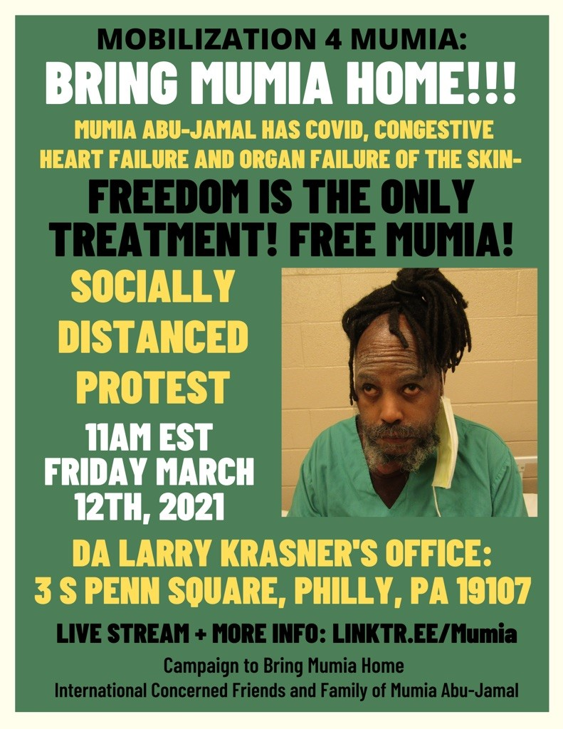 Friday, March 12, 2021, 11am Protest at D.A. Larry Krasner's Office.