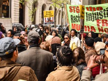 Rally for Mumia Abu-Jamal.
